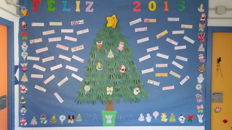 Vuelta a clase infantedonfelipe for Mural navideno